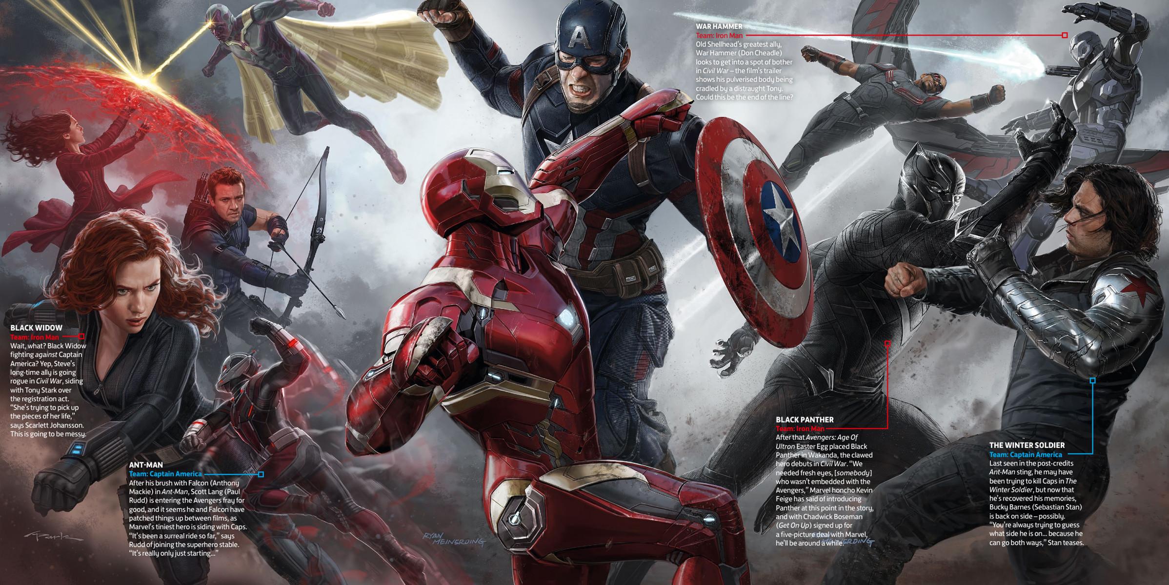 Le fazioni schierate nel nuovo concept art di Captain America ...